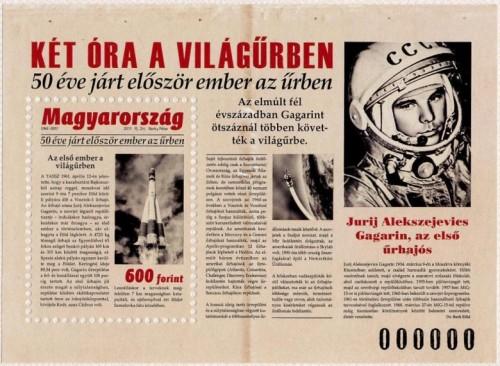 50 ÉVE JÁRT ELŐSZÖR EMBER AZ ŰRBEN - BLOKK