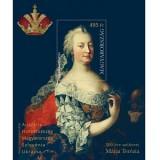 300 éve született Mária Terézia -Bélyeg blokk - Maria Theresa was born 300 years ago
