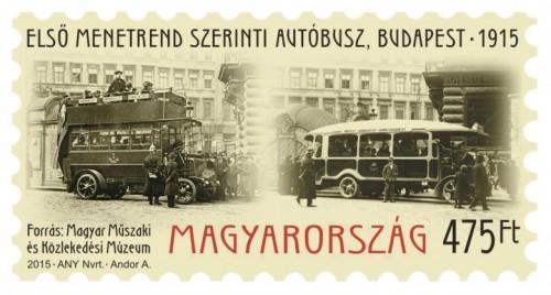 Első menetrend szerinti autóbusz (Budapest, 1915)