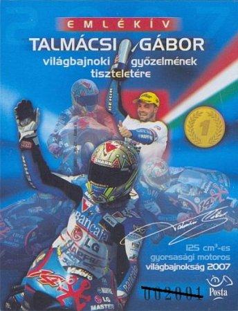 2007 TALMÁCSI GÁBOR - EMLÉKÍV DEDIKÁLT